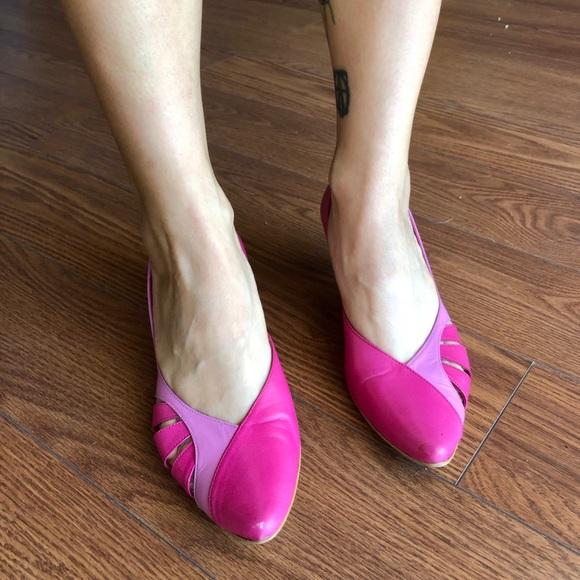 80b378a67a2 Jeffrey Campbell Hot Pink Kitten Heels 6.5